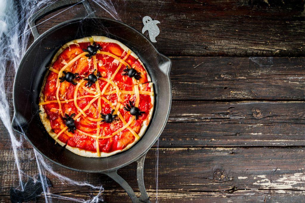 halloween pizzette ragnatela