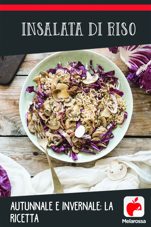 Ricetta insalata di riso autunnale e invernale