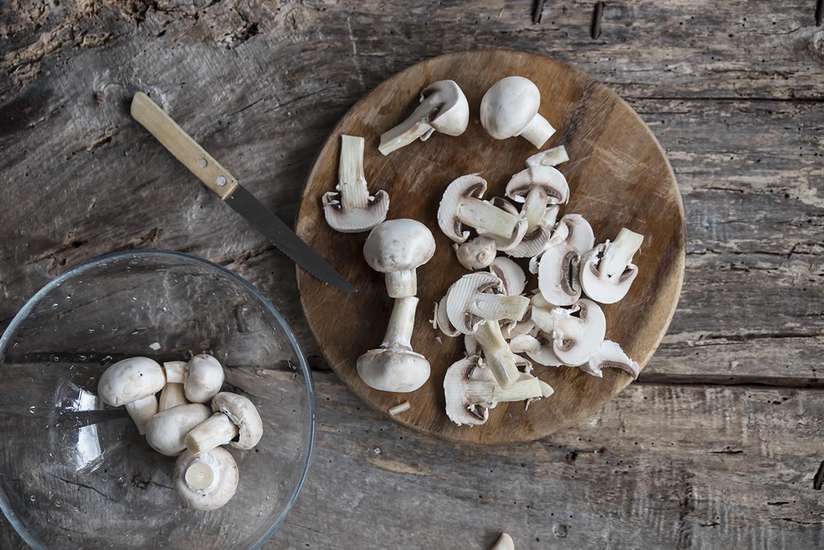 scaloppine ai funghi pulizia