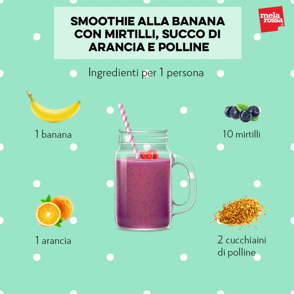 smoothie alla banana per rinforzare le tue difese immunitarie