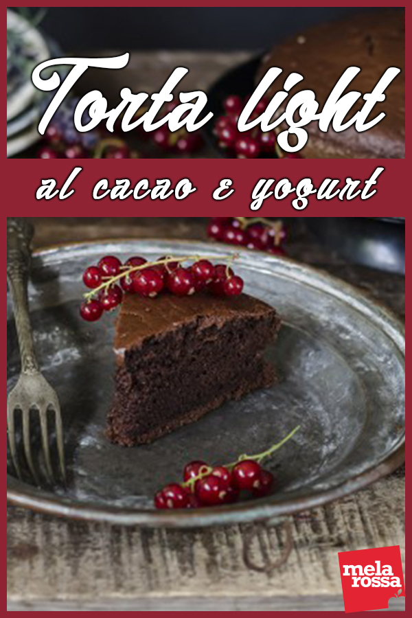 torta light al cacao e yogurt