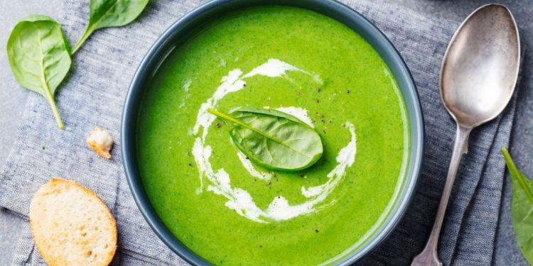 vellutata di spinaci : la ricetta light