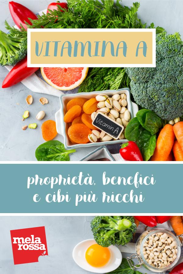 Vitamina A: proprietà e cibi
