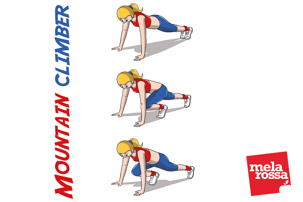 30 days total body challenge: mountain climber