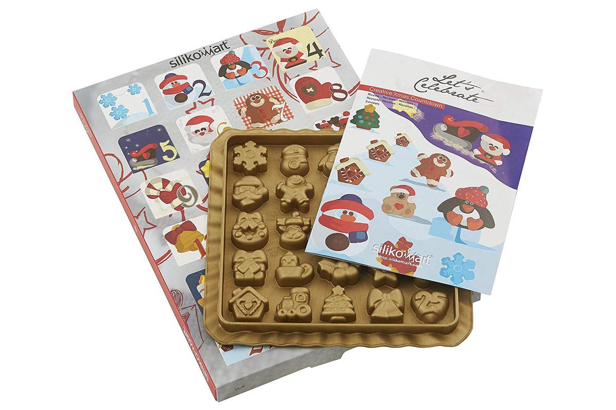 Calendari Avvento Natale 2019 food kit stampo silicone biscotti