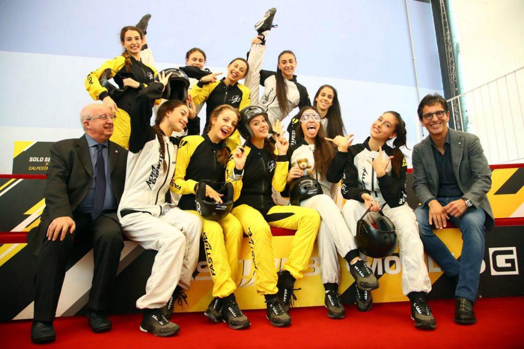Farfalle nazionale ginnastica ritmica Grand Prix di Milano