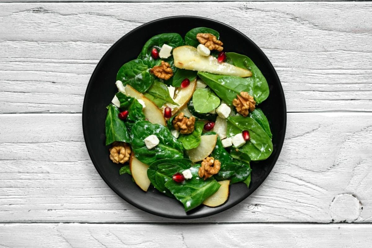 insalata spinaci e noci