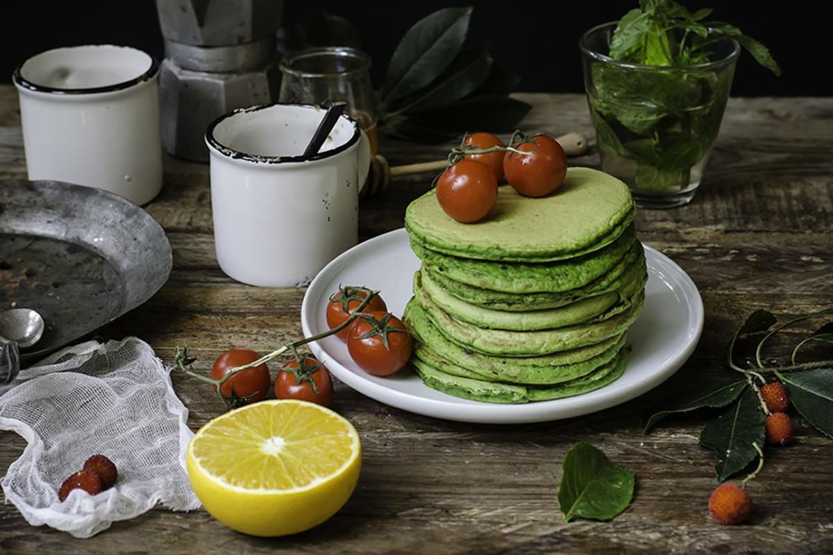 pancakes salati spinaci