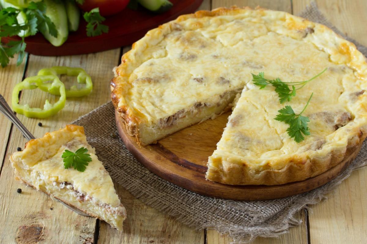 ricette con i porri: quiche patate e porri