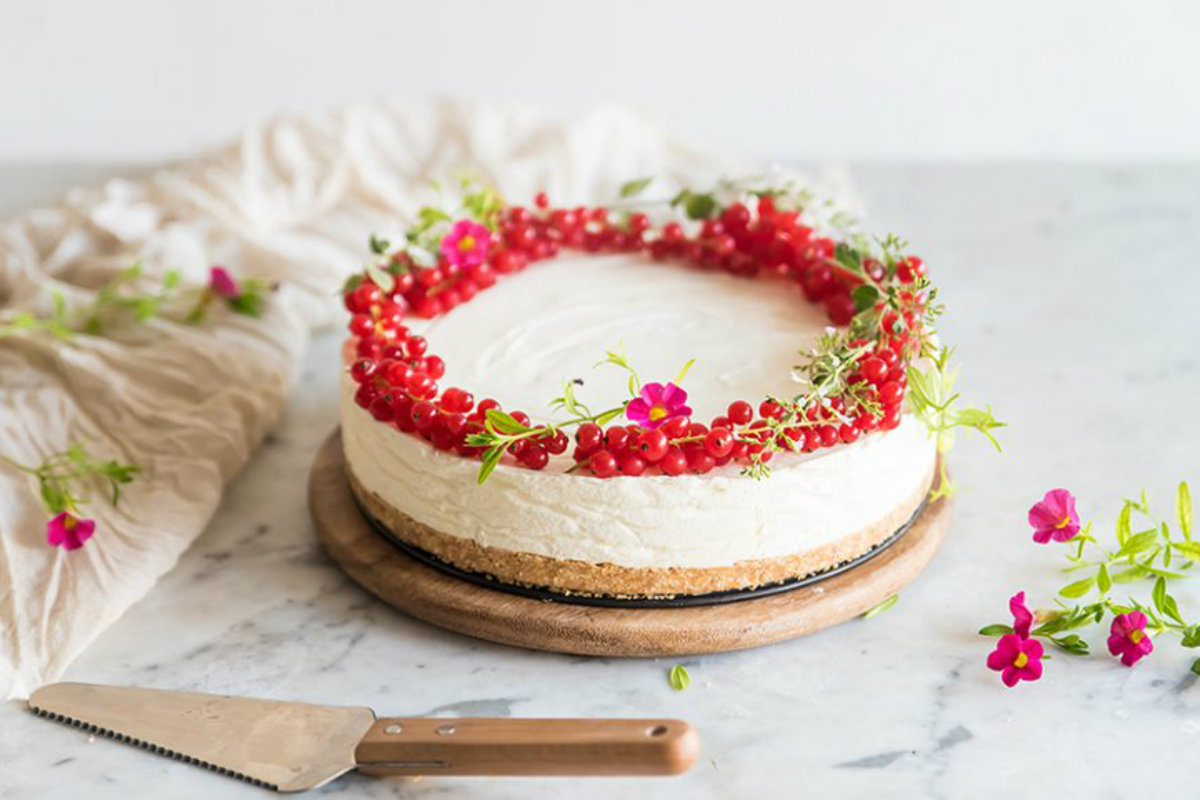 ricette con ribes: cheese cake light