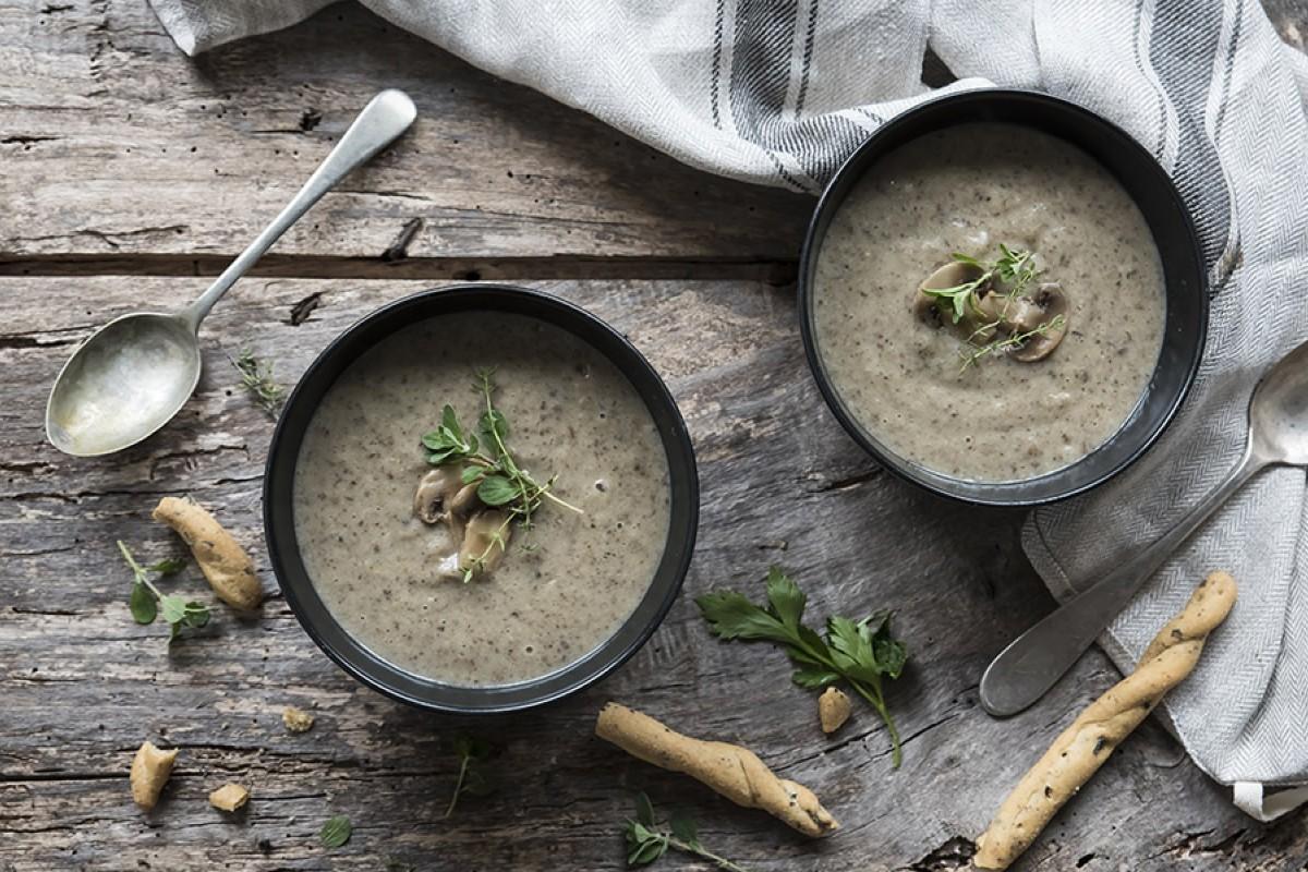 zuppe vellutate: vellutata di funghi