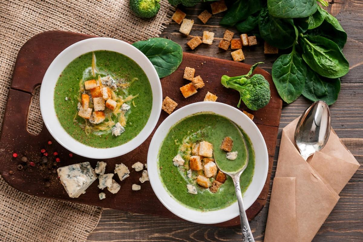 zuppe vellutate: vellutata di spinaci