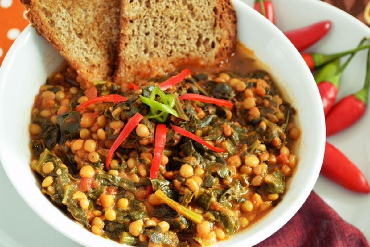 zuppa di lenticchie e spinaci