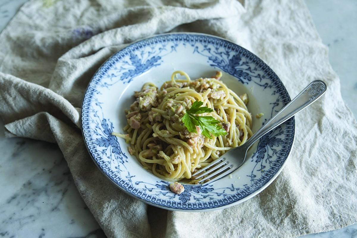 ricette con i porri: spaghetti