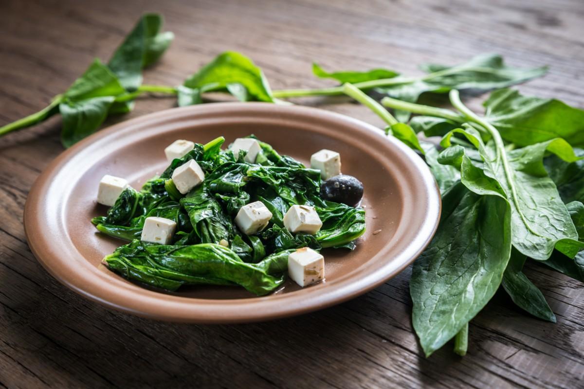 spinaci con feta