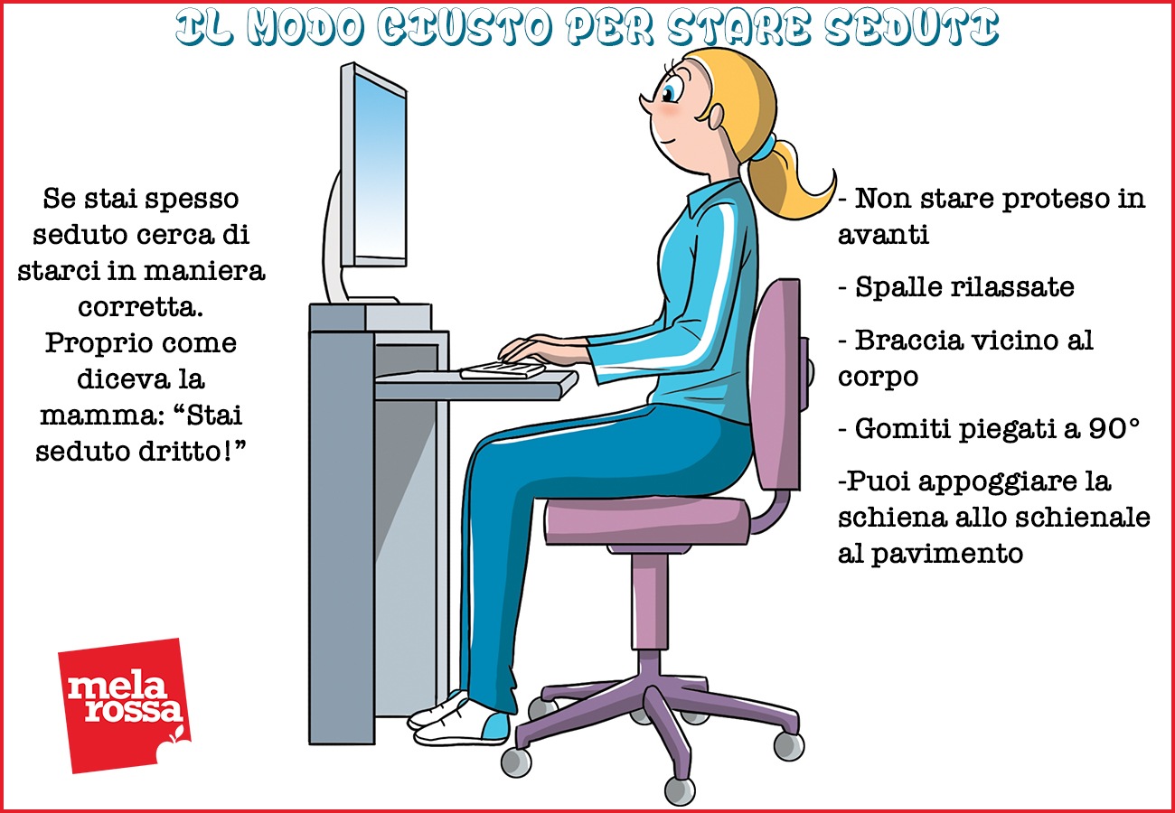 torcicollo: come star seduto correttamente