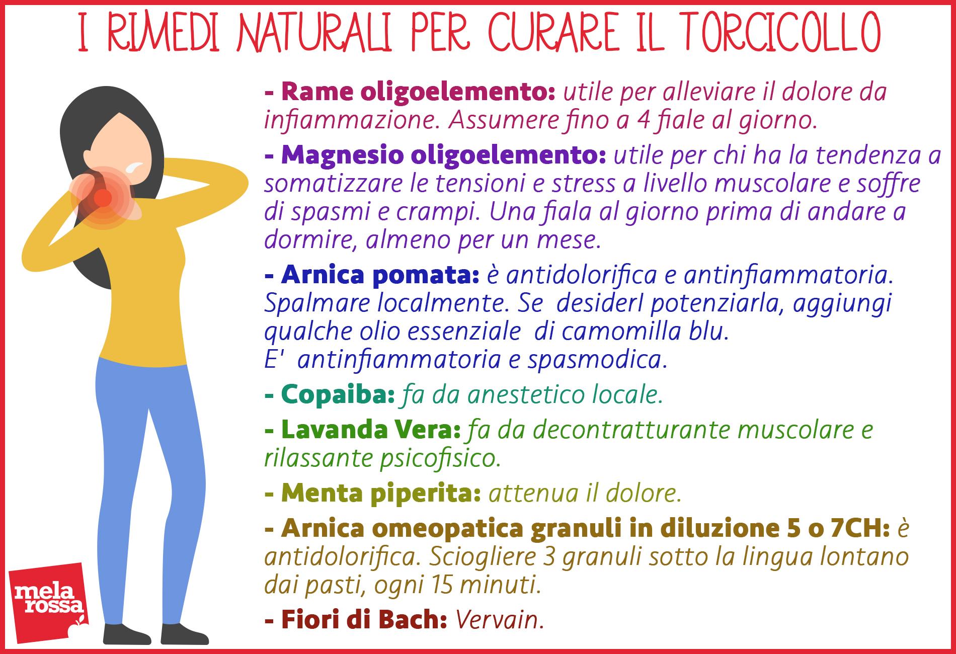 torcicollo: rimedi naturali