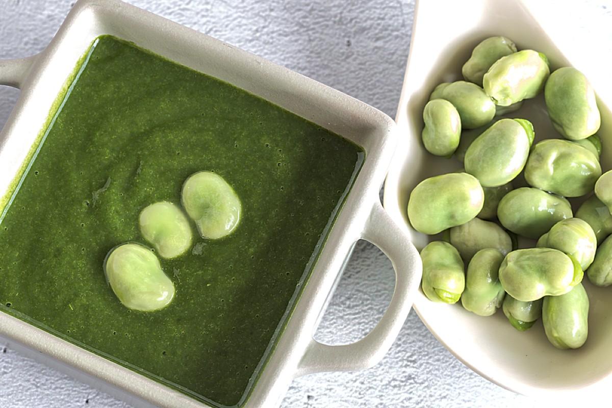 zuppe vellutate: vellutata cicoria fave