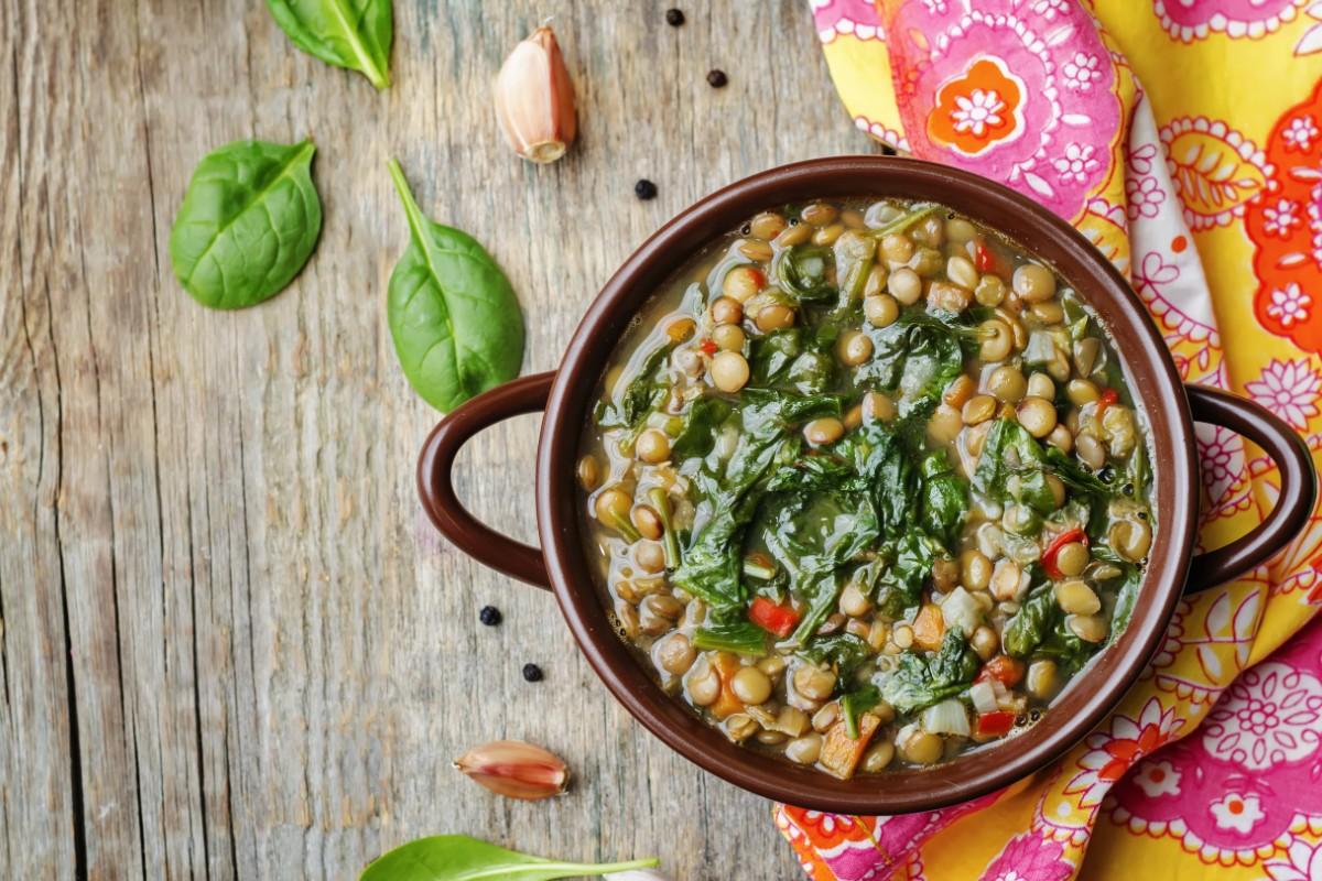 ricette spinaci: zuppa