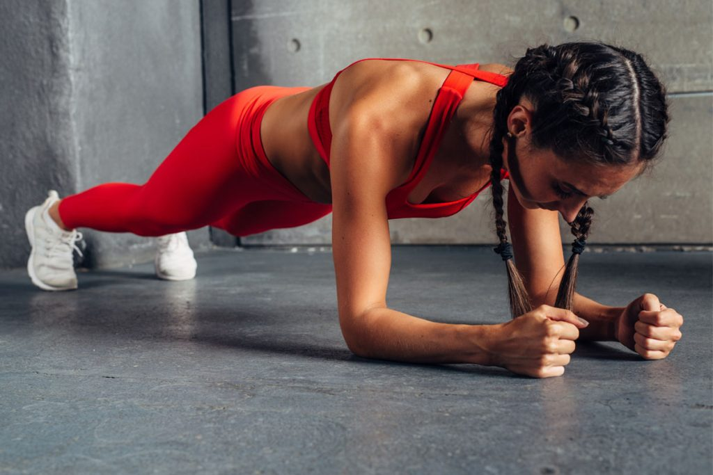 fitness challenge plank