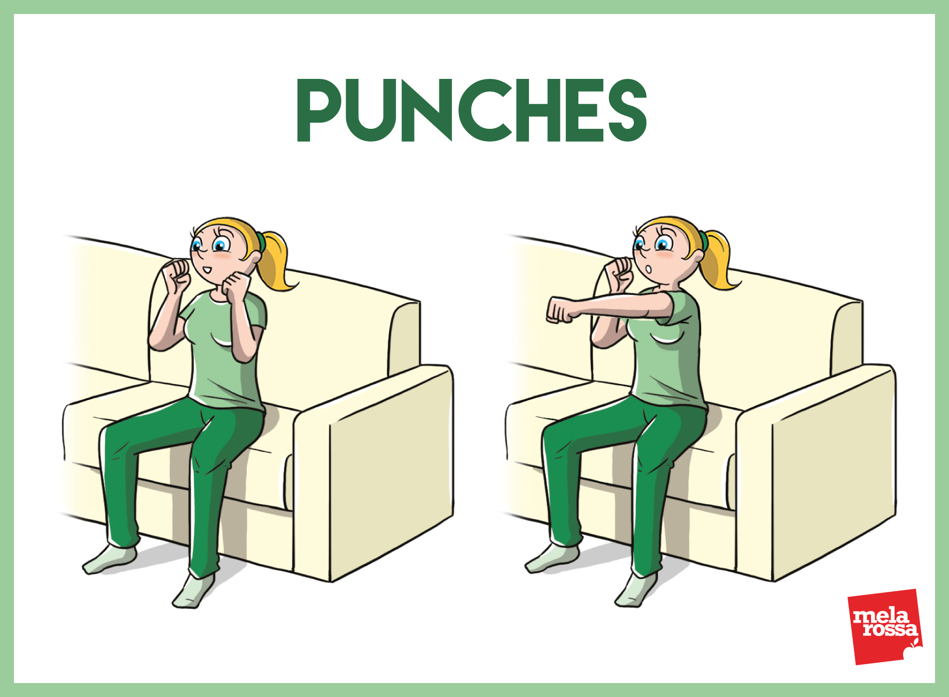 sofa workout: esercizi