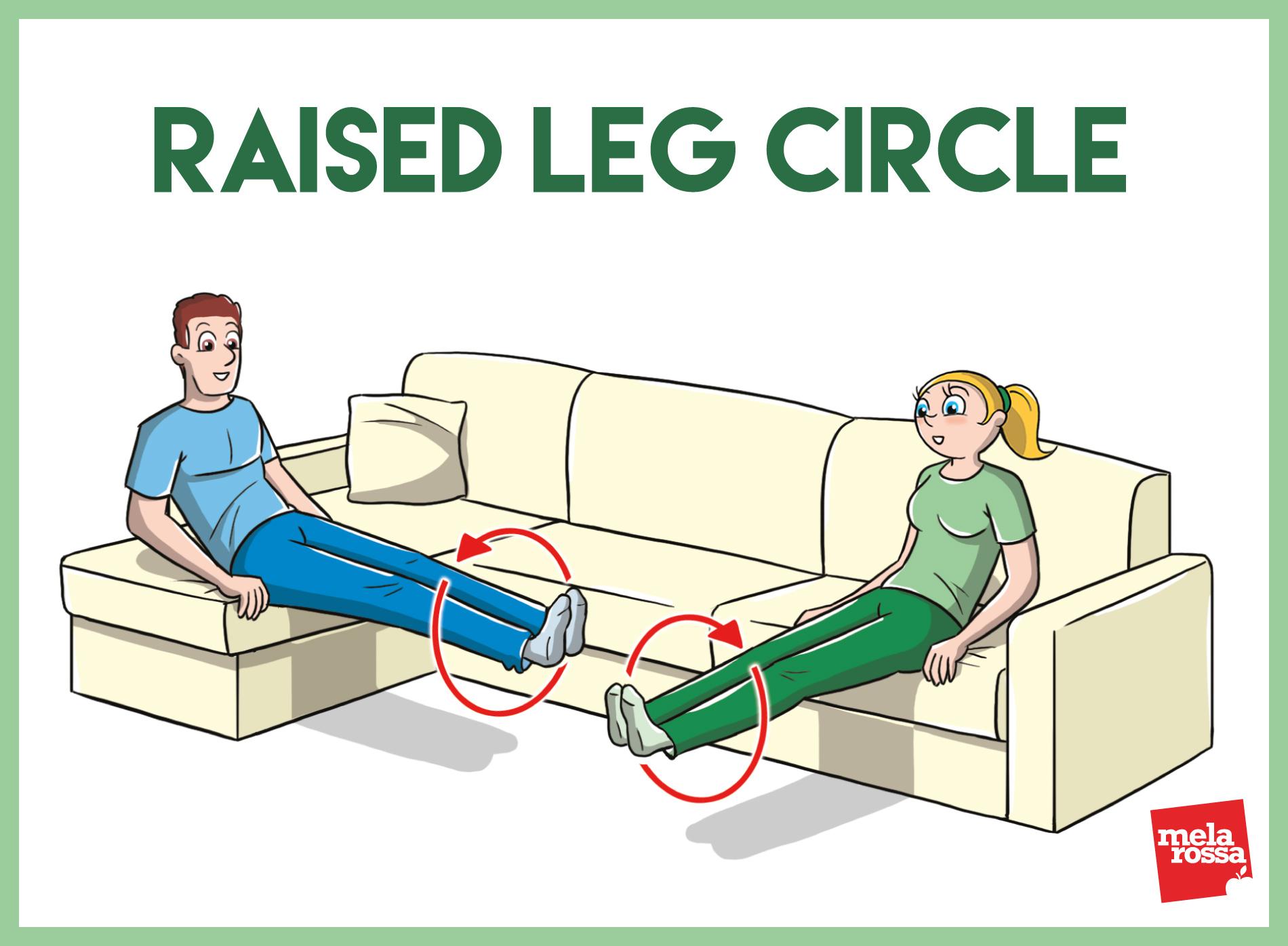 ginnastica da divano per uomini e donne
