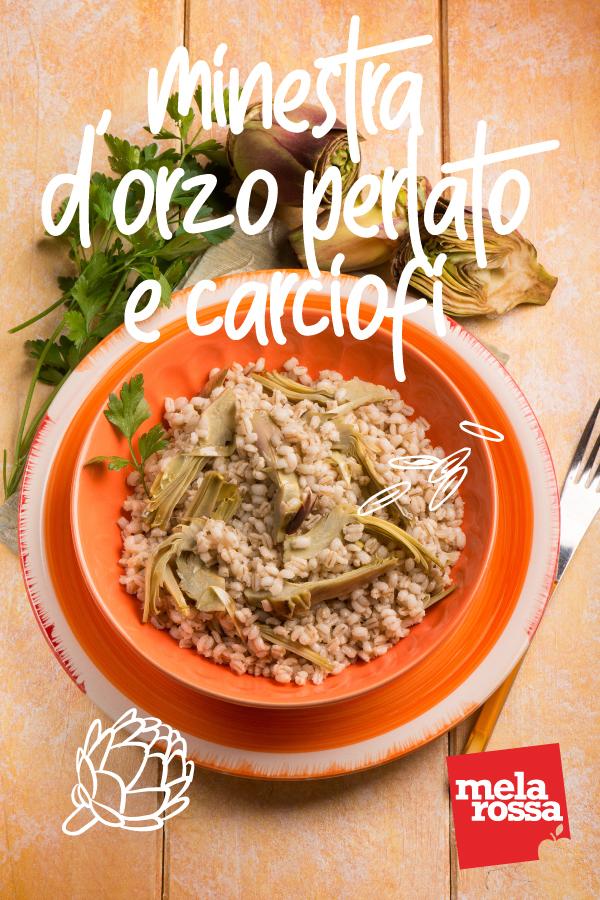 minestra orzo carciofi