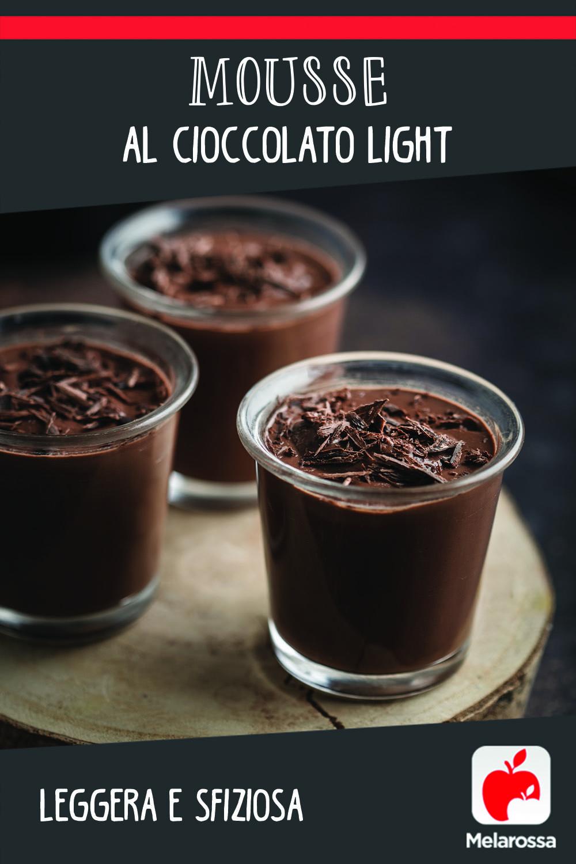 mousse al cioccolato leggera