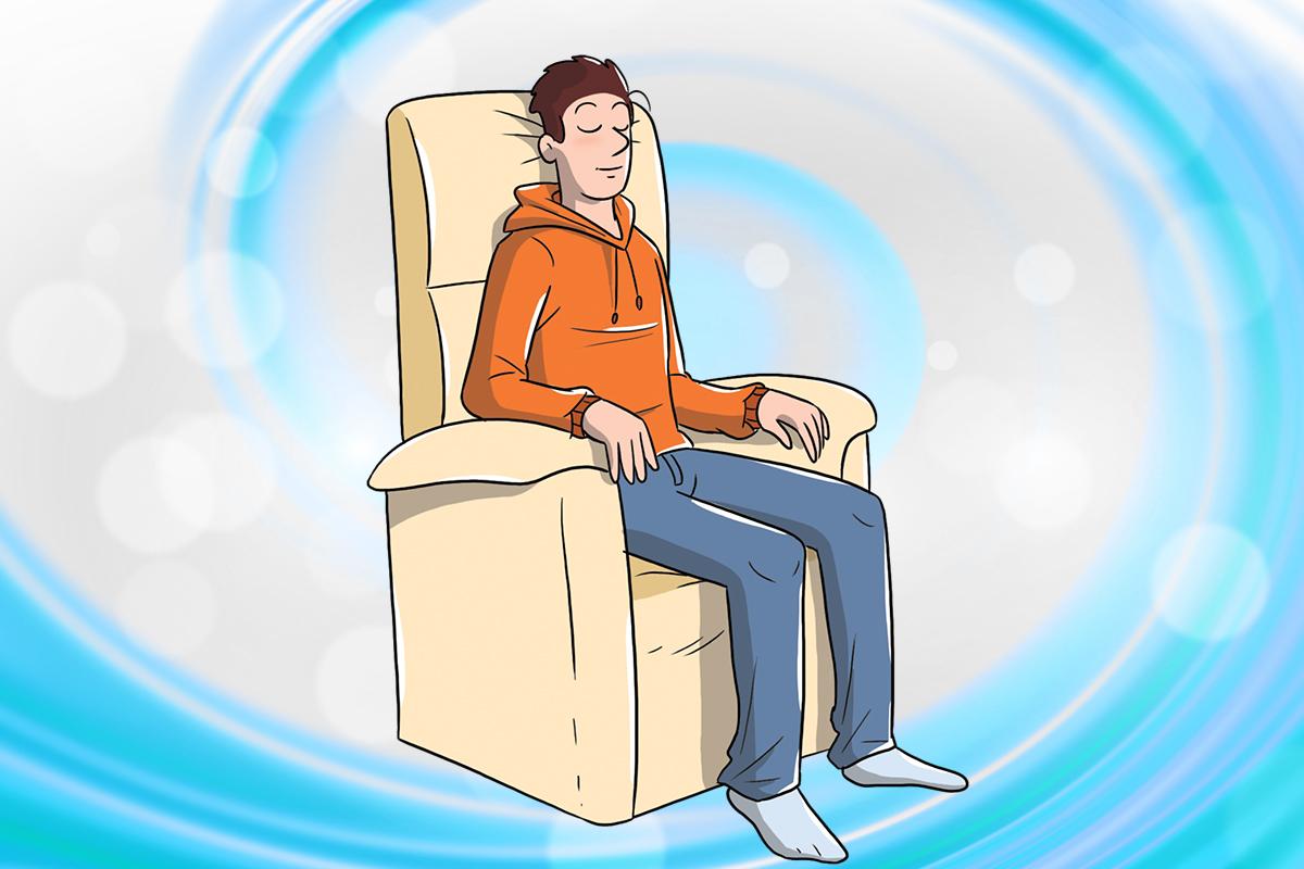 posizione in poltrona: training autogeno