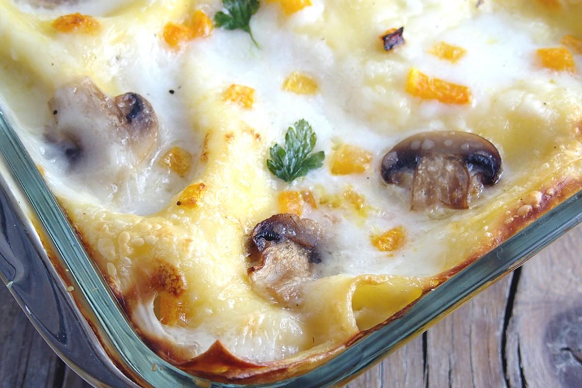 lasagna zucca funghi