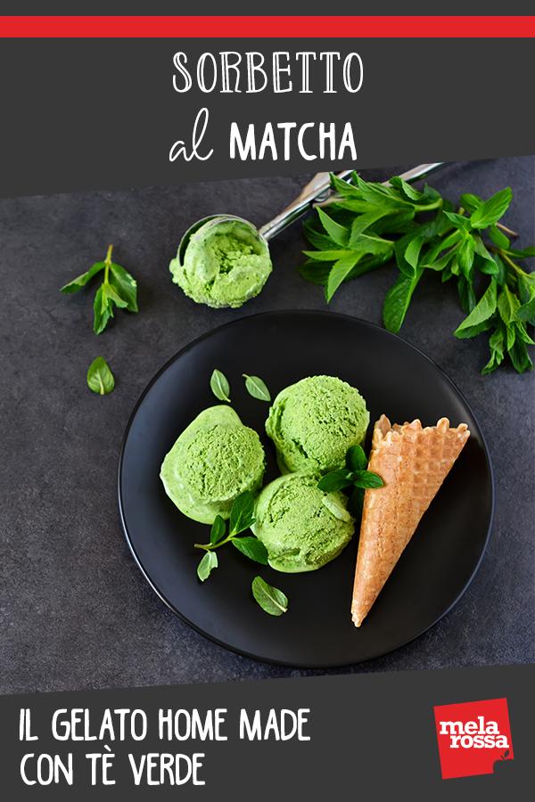 sorbetto al matcha: il gelato con il tè verde
