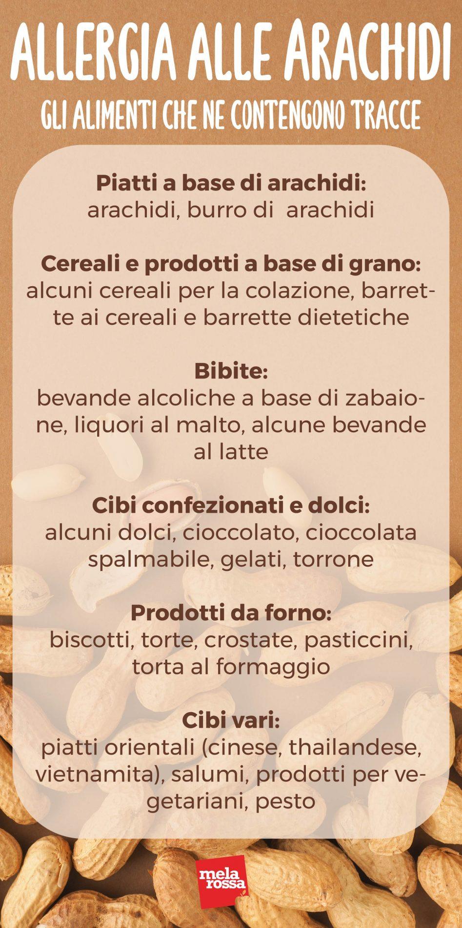 allergia alle arachidi: alimenti che ne contengono