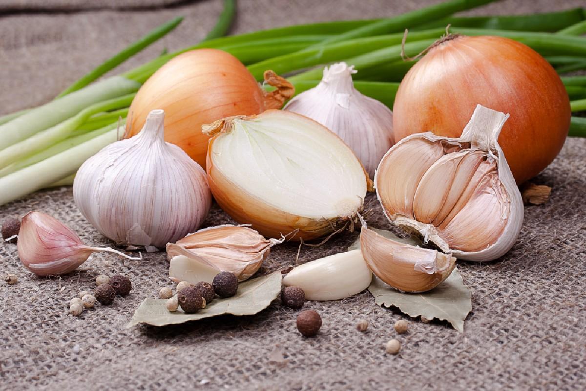 cibi da non tenere in frigo: aglio e cipolle