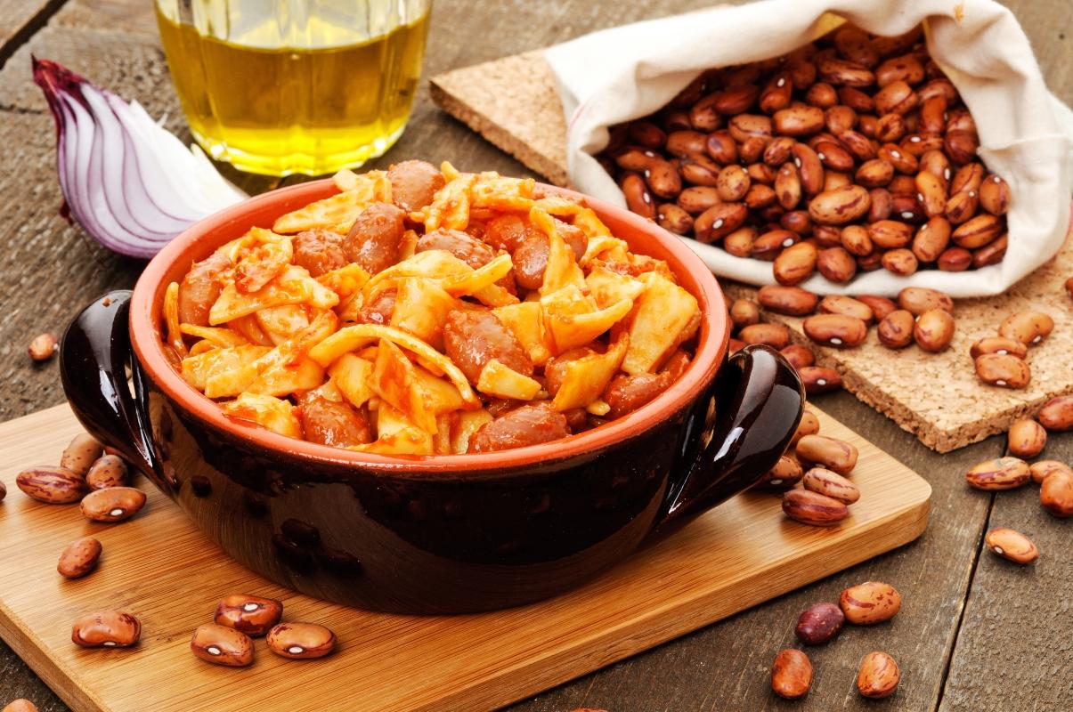 frumento a dieta: pasta e fagioli