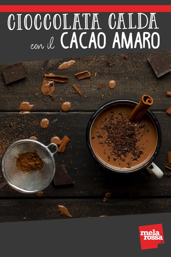 cioccolata calda con il cacao amaro
