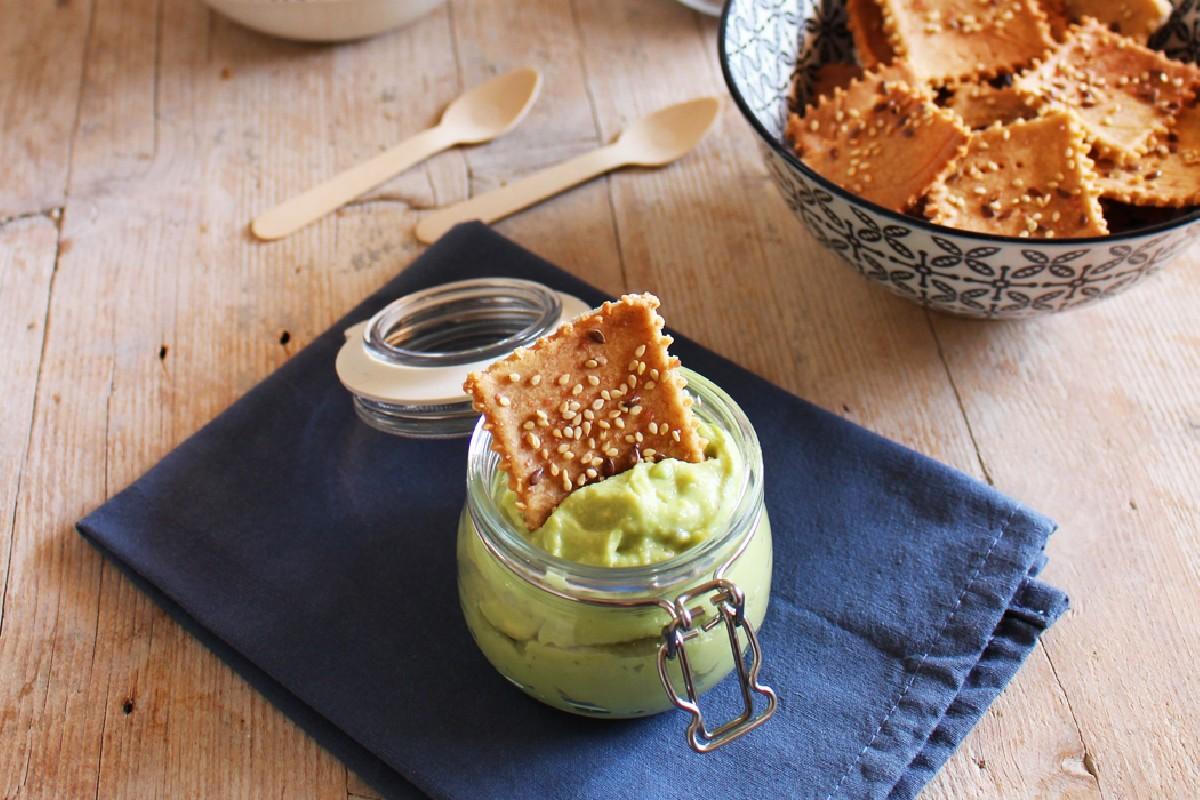 farina di riso: crackers