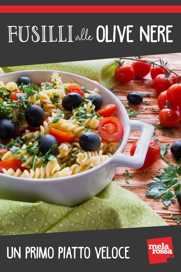 fusilli alle olive nere ricetta