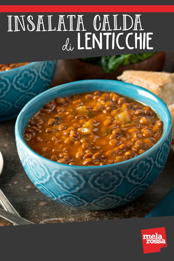 insalata calda di lenticchie pin