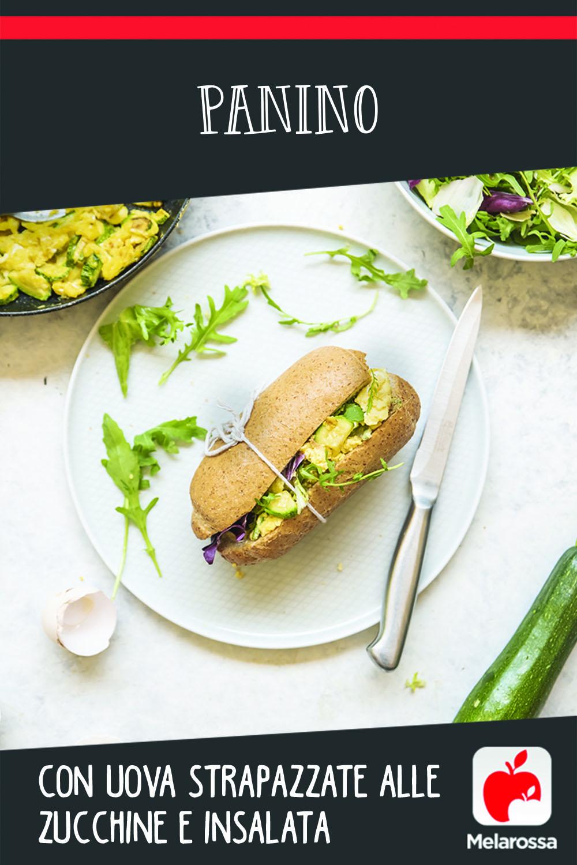 panino uova zucchine e insalata