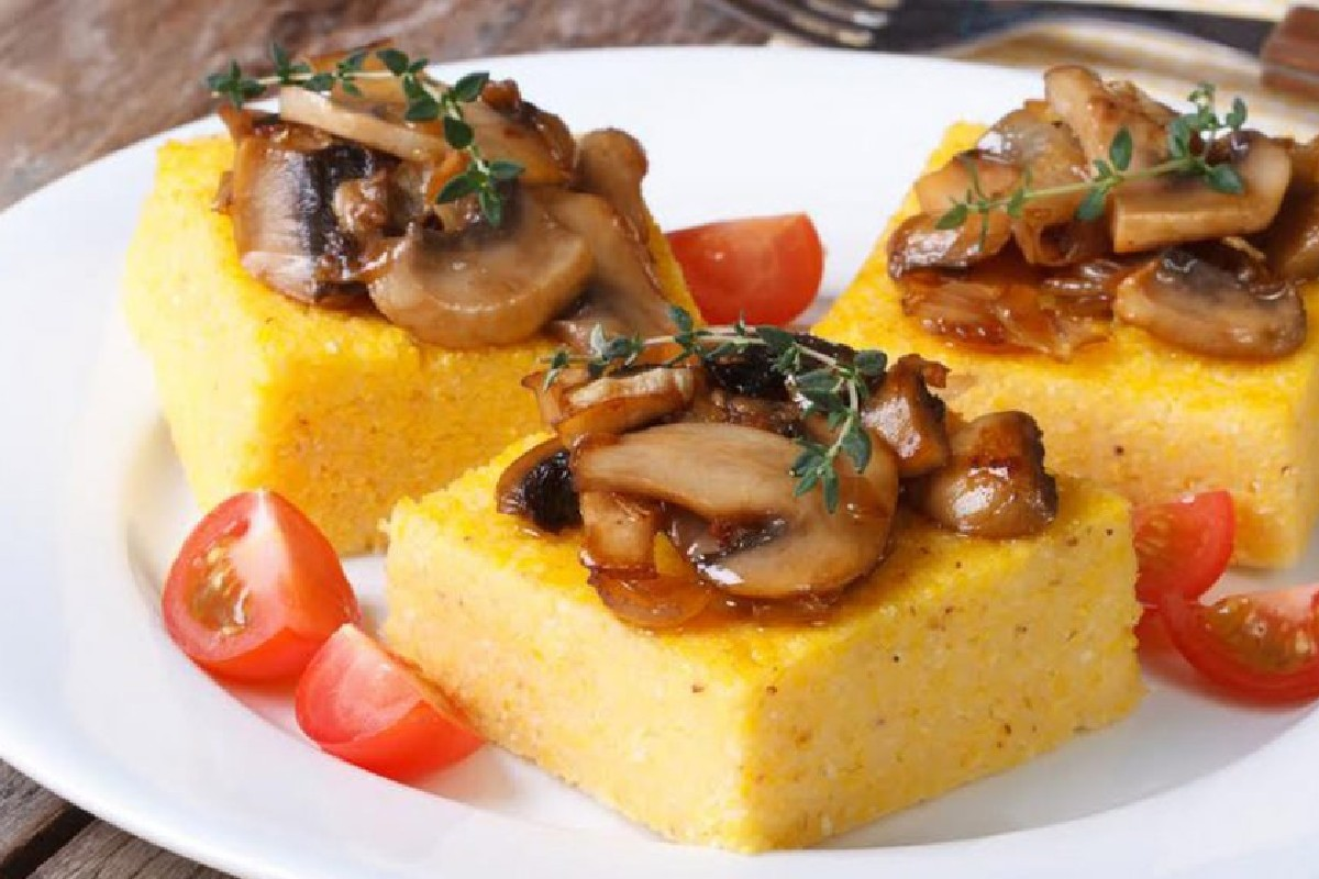 crostini polenta funghi e tartufo