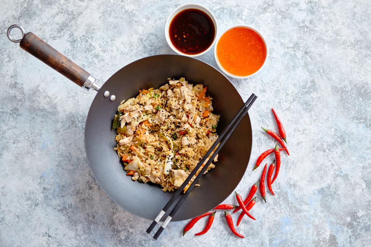 riso metodi cottura wok
