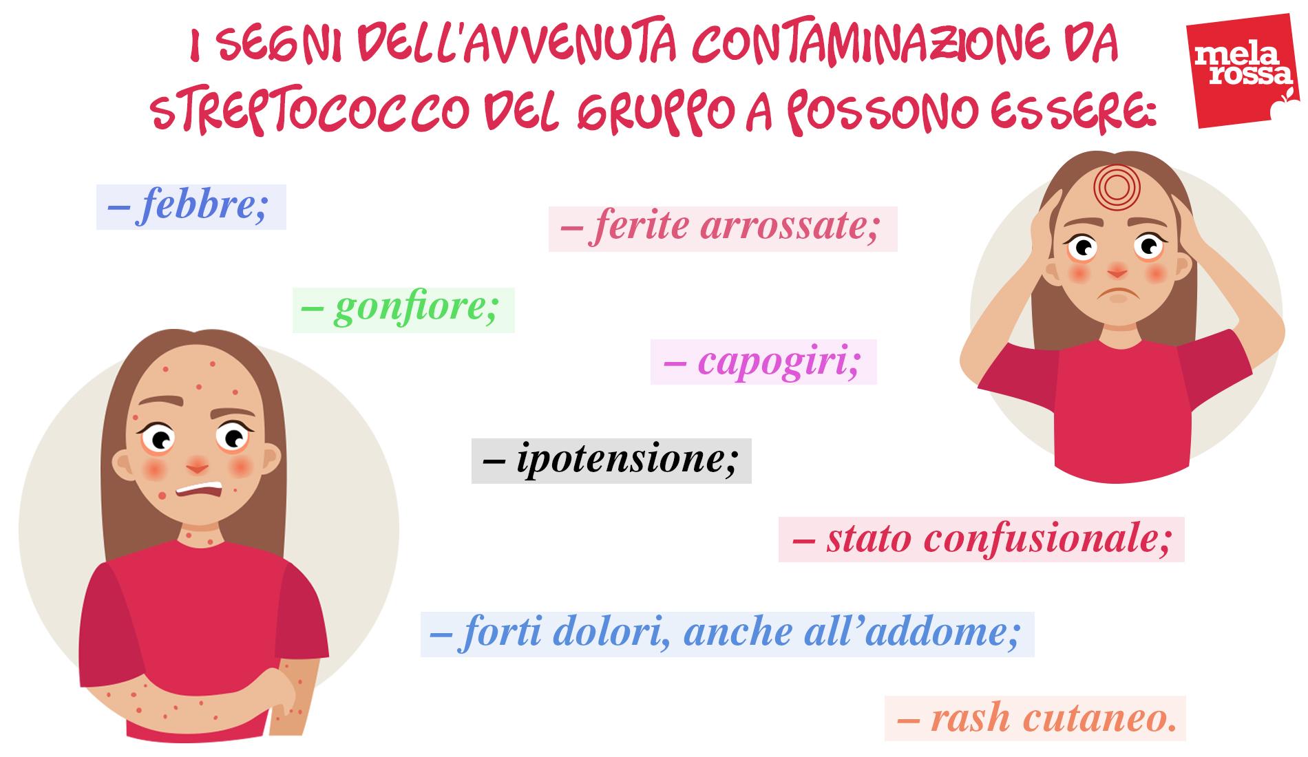 streptococco: sintomi
