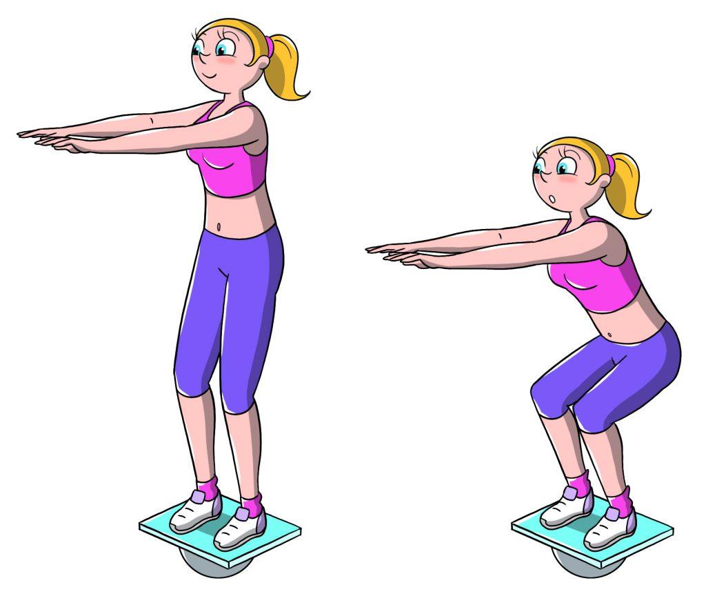 tavola propriocettiva: squat