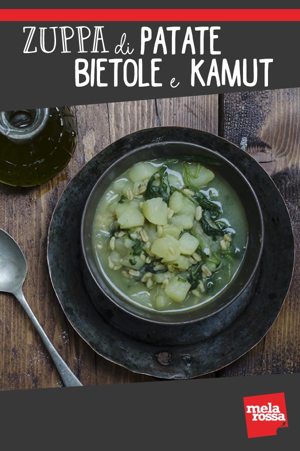 zuppa di patate bietole e kamut