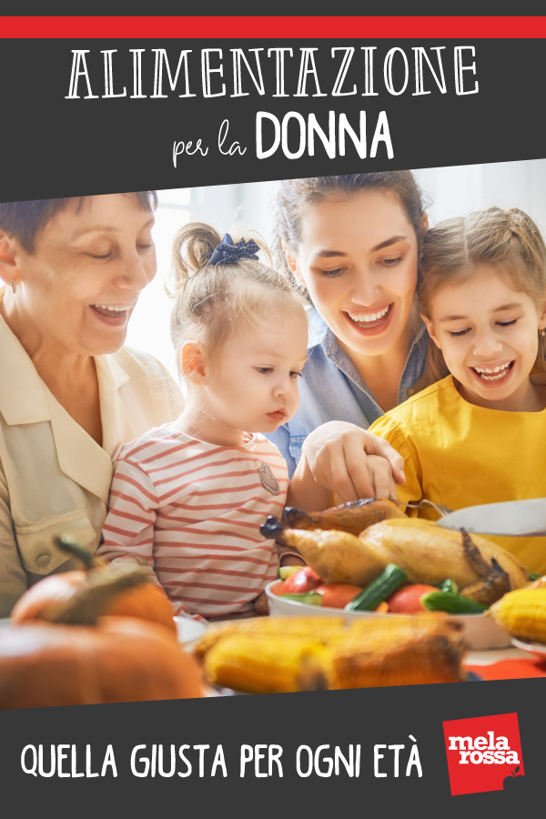 dieta corretta per ogni età della donna