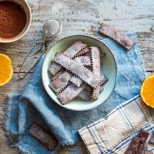 Chiacchiere al cacao light