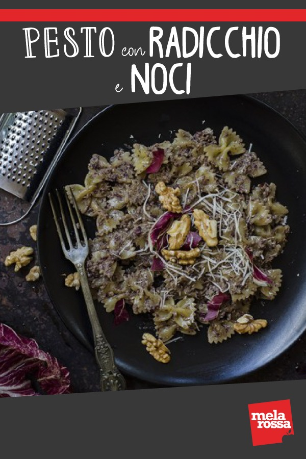 Pesto con radicchio e noci, la ricetta