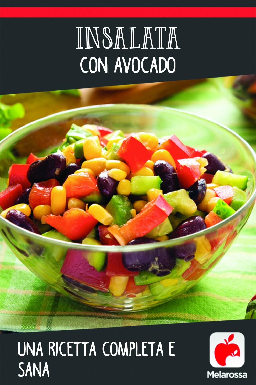 insalata con avocado Pinterest