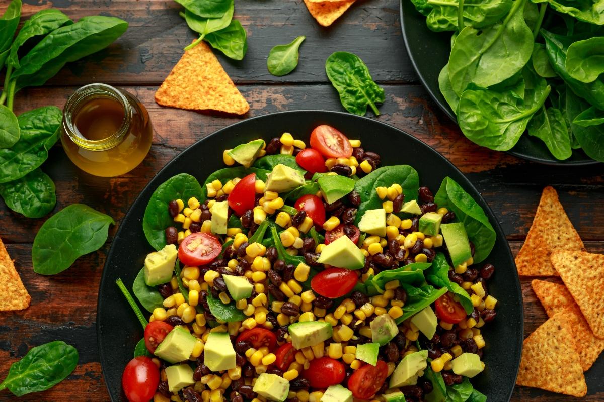 ricette col mais: insalata di avocado