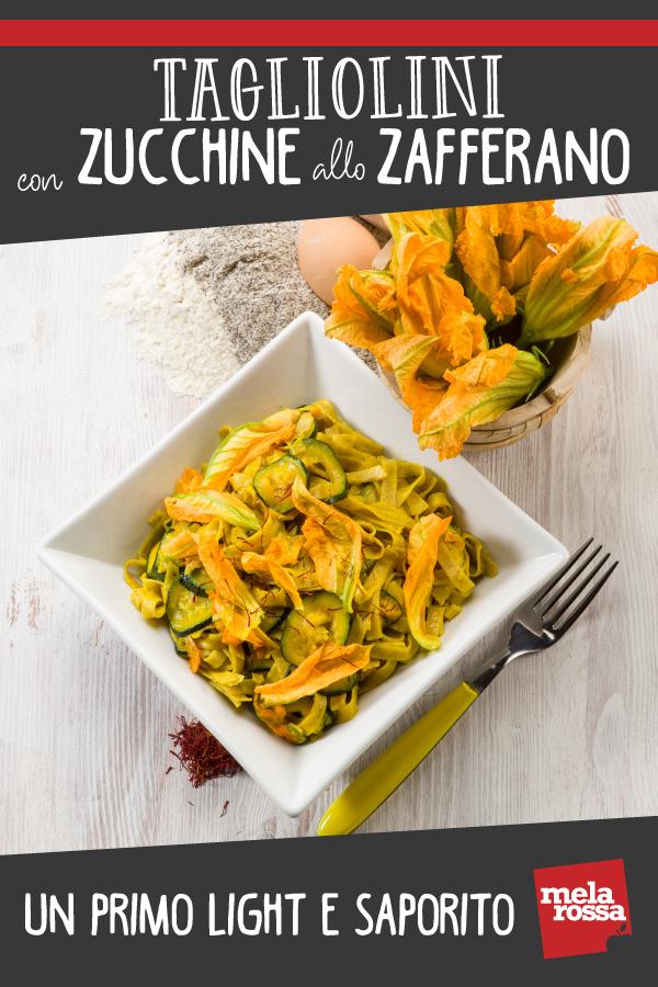 Tagliolini con zucchine e zafferano